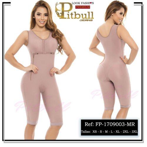 Faja reductora colombiana para total control de tu figura: muslos, abdomen y pecho. Elaborado con tejido de gran compresión, con cómodas tiras anchas