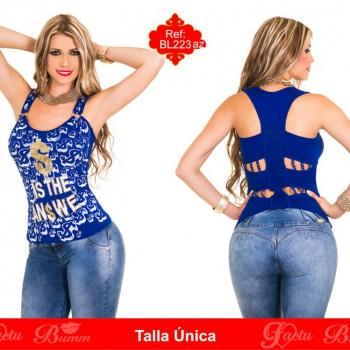 blusa colombiana BL223az