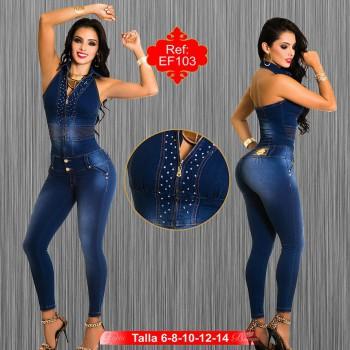 Enterizo en jean latino EF103