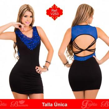 Vestido colombiano V253