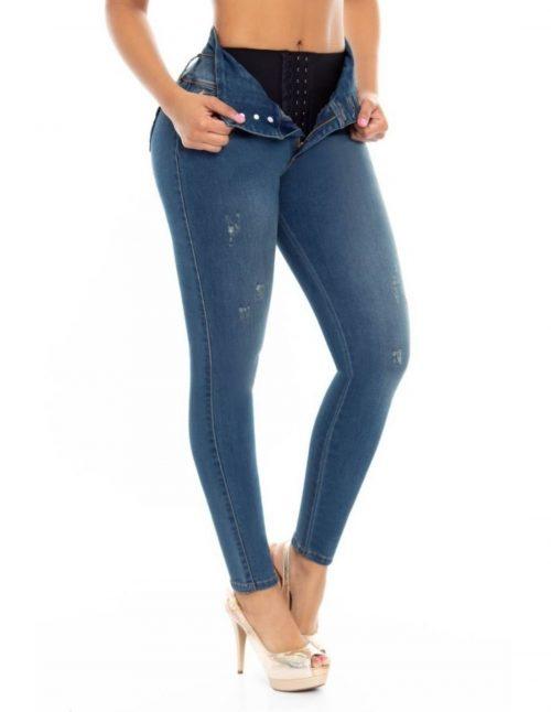 Pantalon con Faja en Cintura PLF6775_2