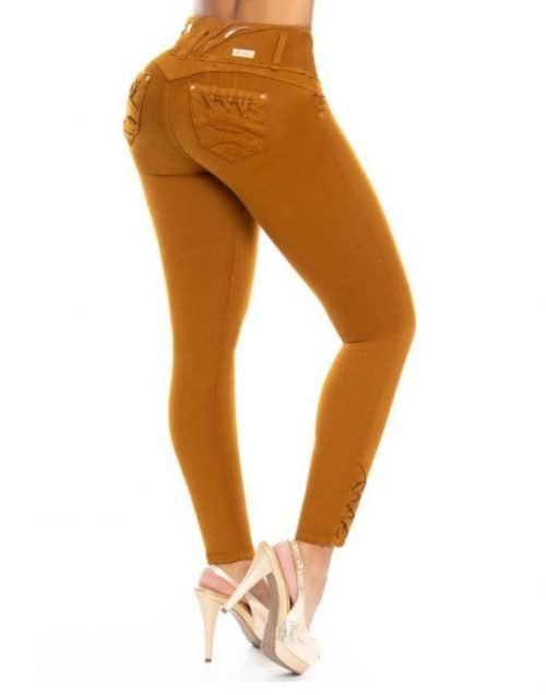 Pantalon Colombiano Tiro Alto PL6705
