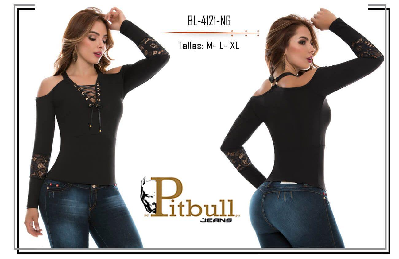 blusa de moda colombiana pitbull bl4118