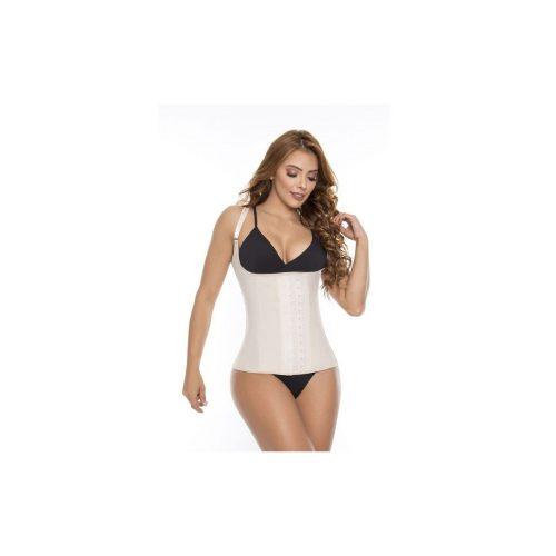 Chaleco reductor elaborado en látex de color negro. Su diseño hace que permanezca definida tu cintura en todo momento sin que la prenda se deforme o enrolle.