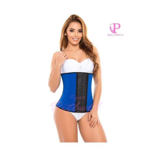 faja cinturilla látex azul