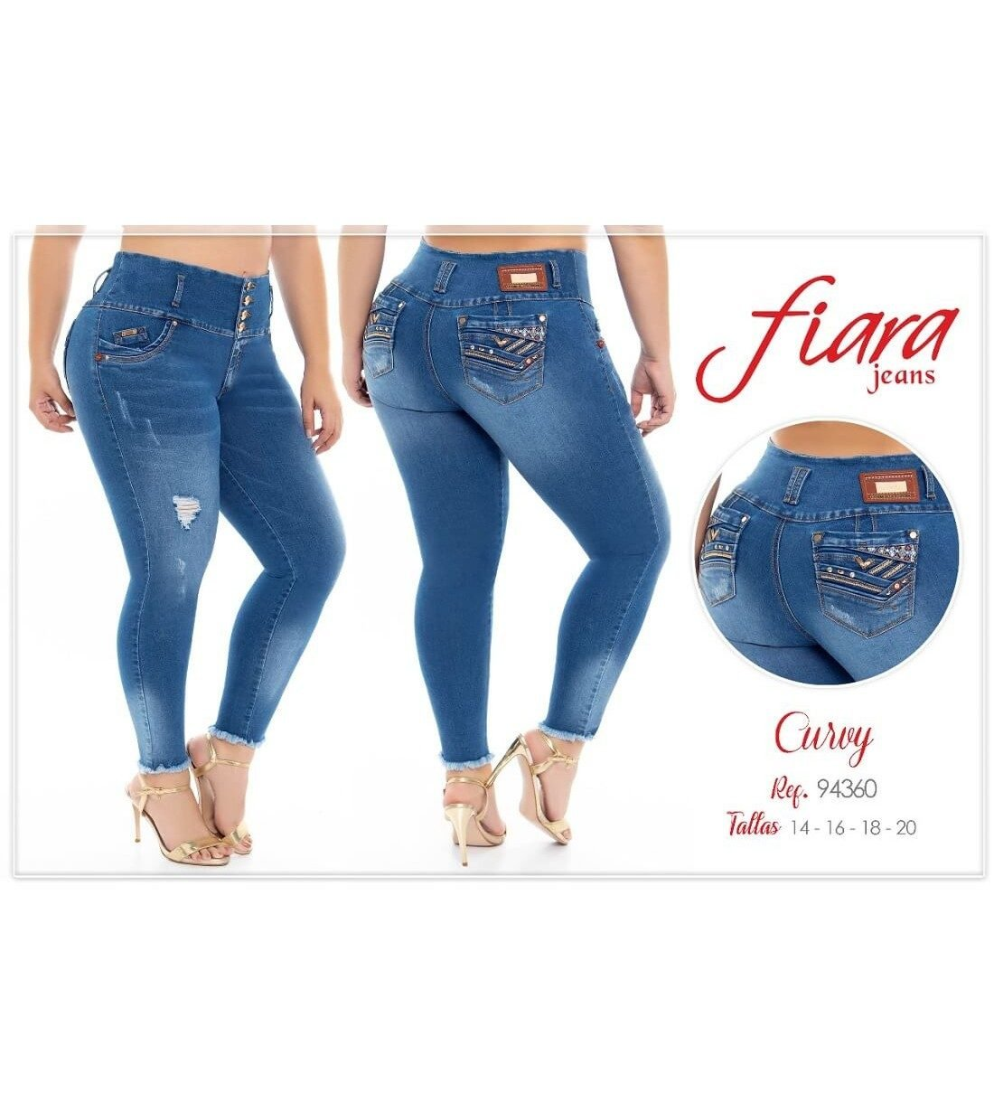 Jean Fiara Jeans Curvi 94360