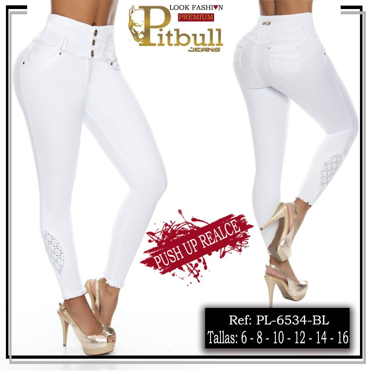 Pantalon levanta cola PL6534