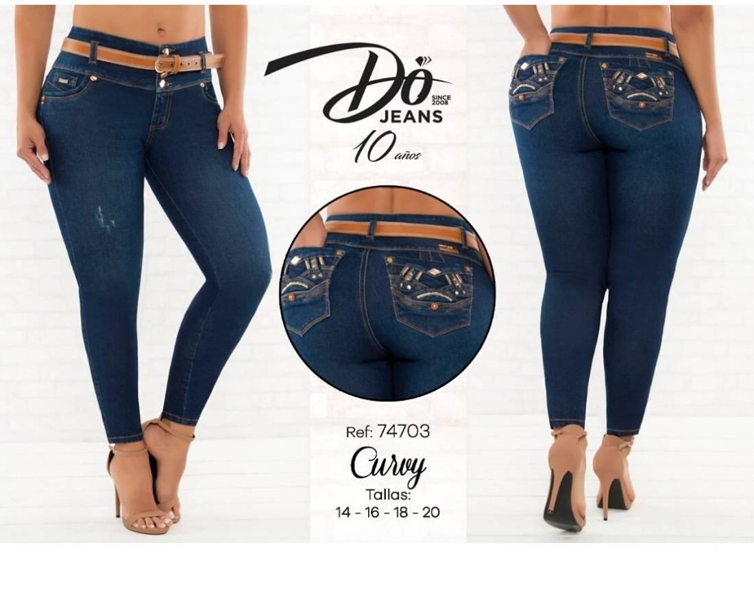 Pantalon Do Jeans Talla Grande 74703