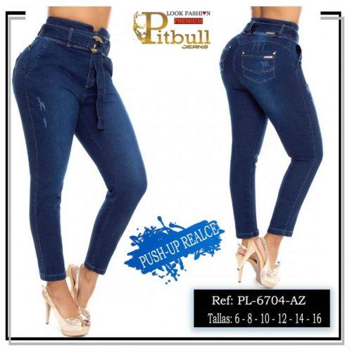 Pantalon Colombiano Tiro Alto PL6704