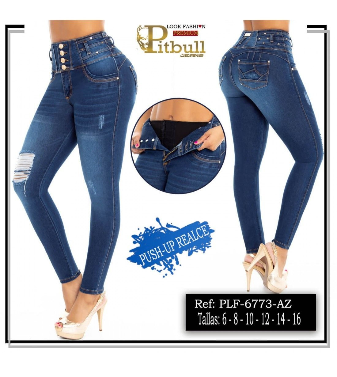 Pantalon Colombiano con Faja en Cintura PLF6773