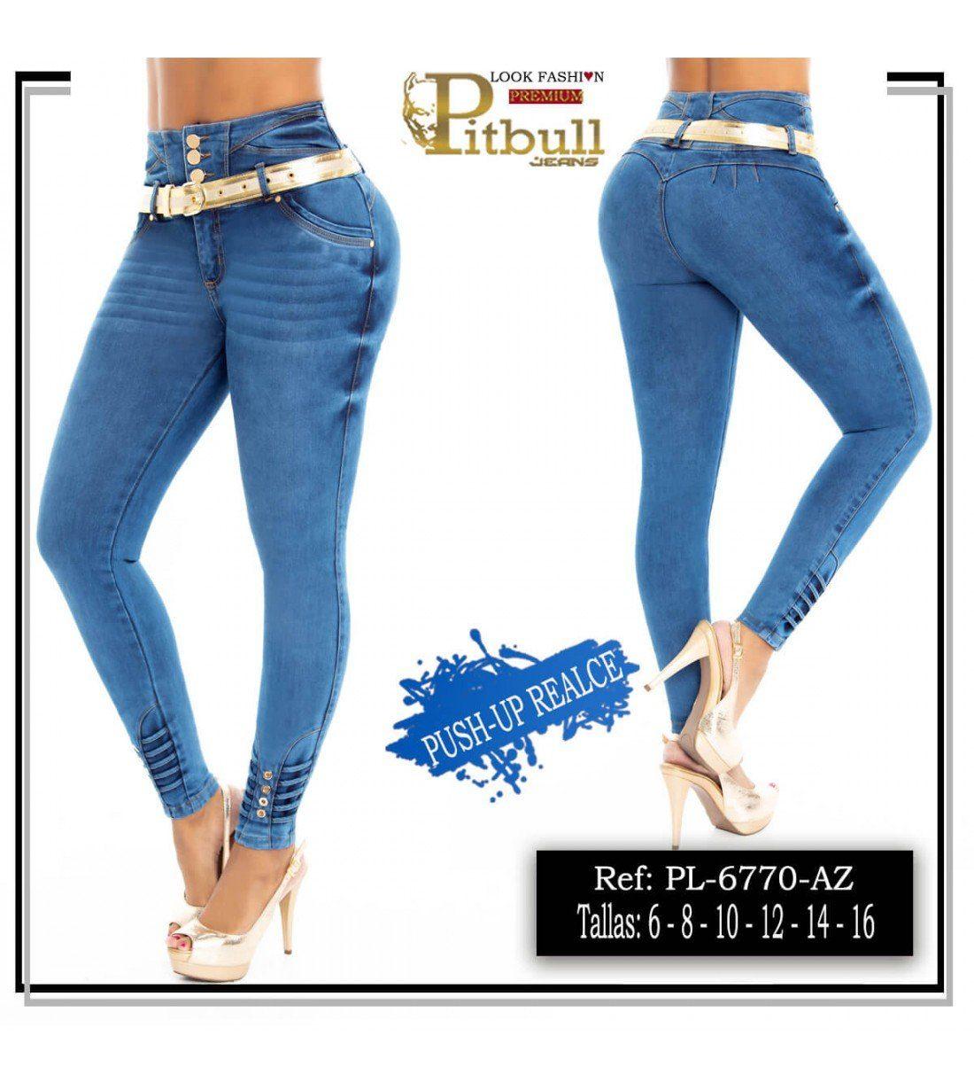 Pantalon Colombiano Tiro Alto PL6770