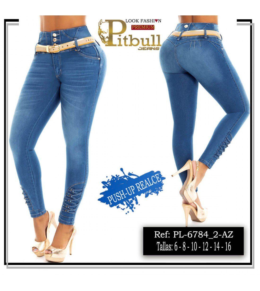Pantalon Colombiano Tiro Alto PL6784_2