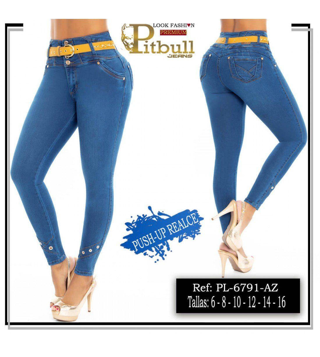 Pantalon Pitbull Levanta cola Tiro Alto PL6791