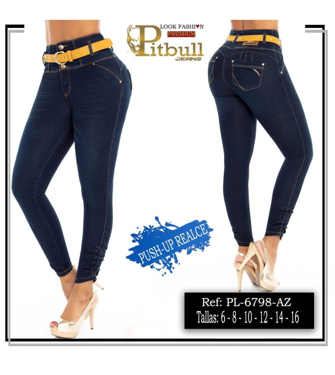 Pantalon ColombianoTiro Alto PL6798