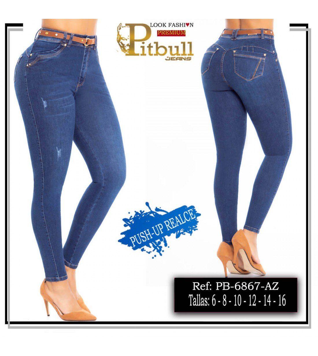 Pantalon Tiro Alto levanta cola Pitbull- 6867