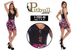 Vestido colombiano de moda V2060BL