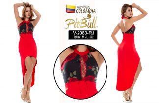 Vestido fiesta largo Colombiano V2080