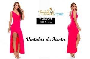 Vestido fiesta largo colombiano V2096FS