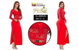 Vestido fiesta largo Colombiano V2085NG