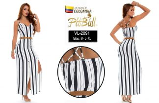 Vestido fiesta largo Colombiano V2091