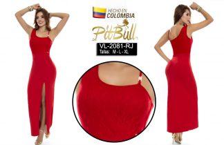 Vestido fiesta largo Colombiano V2081NG